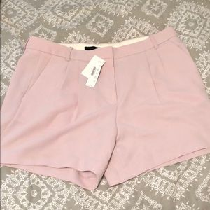 J Crew dusty pink pleated shorts